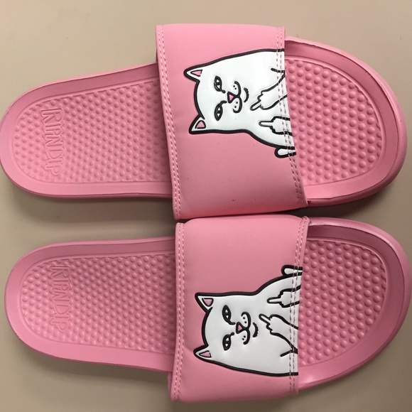 3453ff9b2c92a RIPNDIP Lord Nermal Pink Slide Sandals